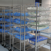 Shelving units for hospital storage